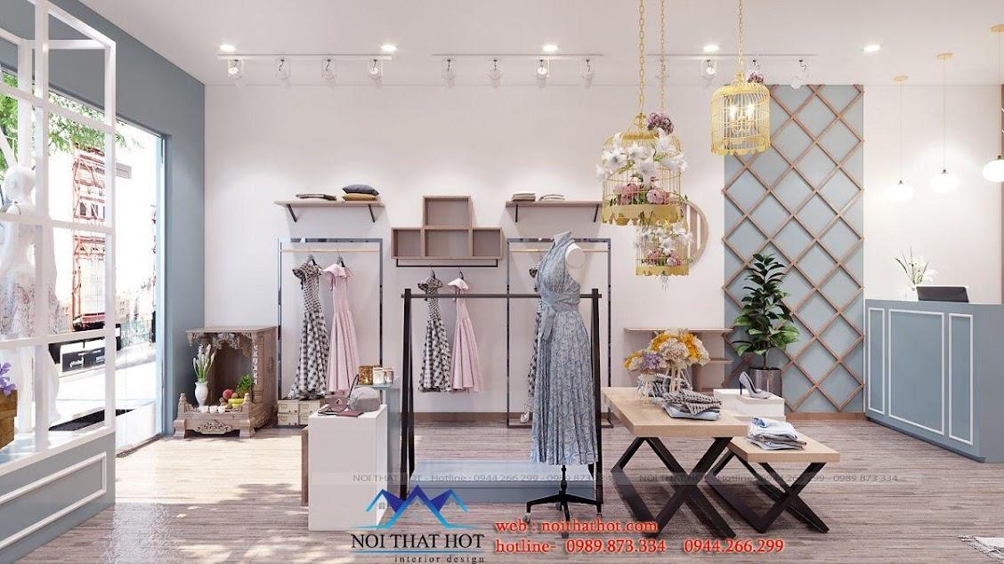 thiết kế shop thời trang nữ dova hiện đại