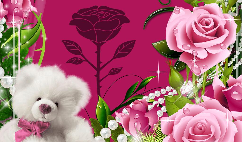 beautiful roses photo frames screenshot