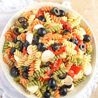 Tri Colored Pasta Salad.