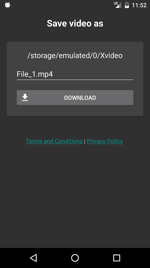 FVD - Free Video Downloader: captura de tela