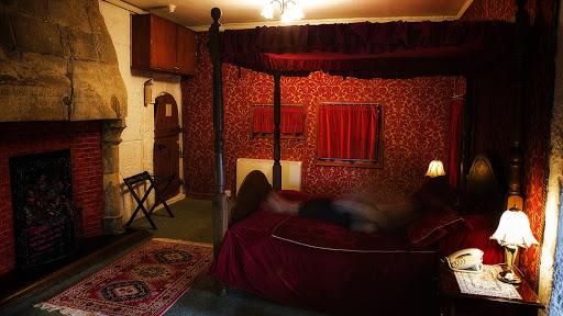 Habitación roja del Castillo Borthwick