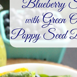 Blueberry Salad with Green Onion-Poppy Seed Dressing
