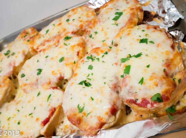 Garlic Bread Pizzas Recipe