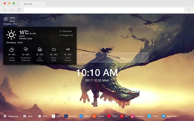 Dragon Pop Mythology HD New Tabs Themes