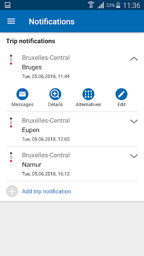 SNCB National: train timetable/tickets in Belgium - screenshot