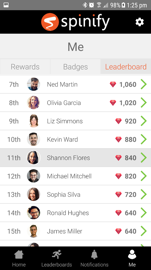 Spinify - Lively Leaderboards- screenshot