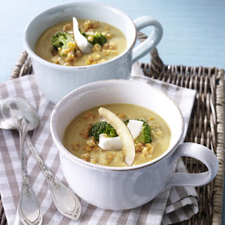 Curried Lentil and Broccoli Soup.