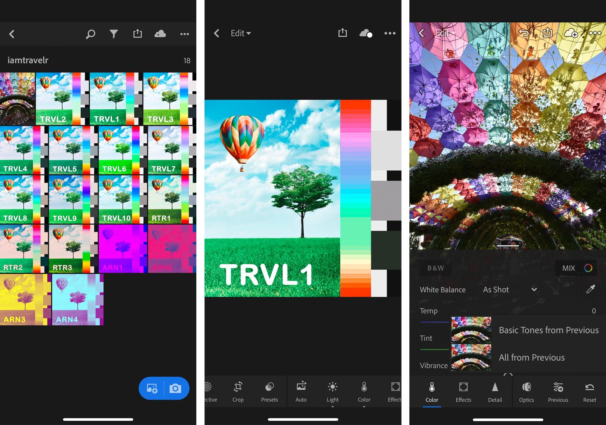 Use iamTravelr filters on Lightroom mobile app | iamTravelr