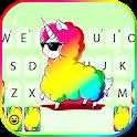 Cool Colorful Unicorn Keyboard Theme icon