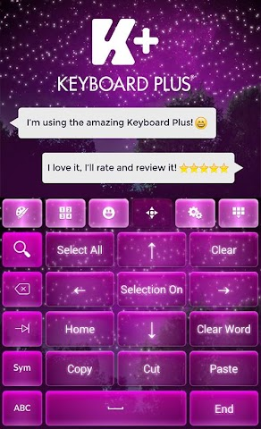 android Starry Night Keyboard Screenshot 1