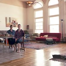 Photo: title: Kate Cox & Matt Schreiber, Lewiston, Maine date: 2011 relationship: friends, art, met through Sarah Devlin years known: Kate 5-10, Matt 0-5