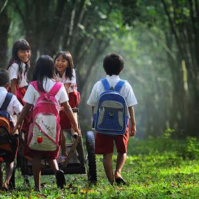 Back to Home by Irawan Sudjana - People Family