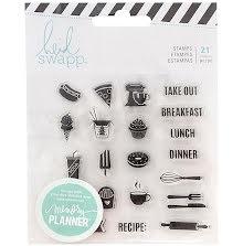 Heidi Swapp Memory Planner Clear Stamps - Fresh Start Food UTGÅENDE