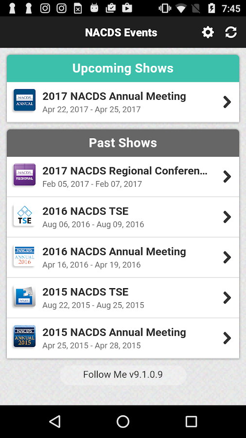 NACDS Events- screenshot