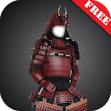 Samurai armor suit fotomontage icon