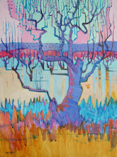 Photo: Spirit Tree, acrylic on canvas by Nancy Roberts, copyright 2014. Private collection.