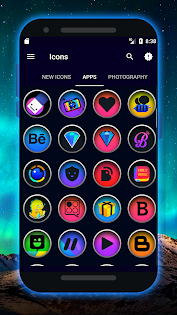 Extreme - Icon Pack app for Android screenshot