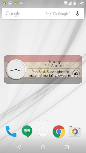 Egypt Clock RSS Widget