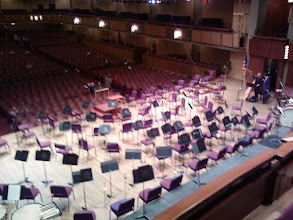 Photo: You sit right above the stage and can watch the conductor give directions.