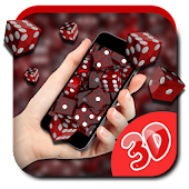 3D Dice Fall Live Wallpapers
