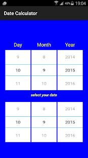 Date calculator between