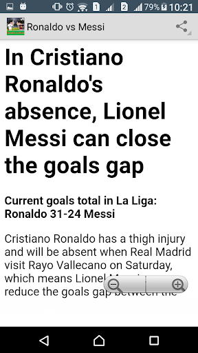 Differ of Ronaldo and Messi screenshot 2