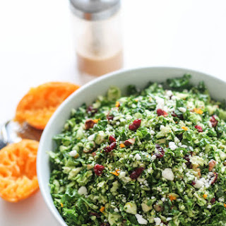 Orange-Infused Kale and Brussels Sprout Salad