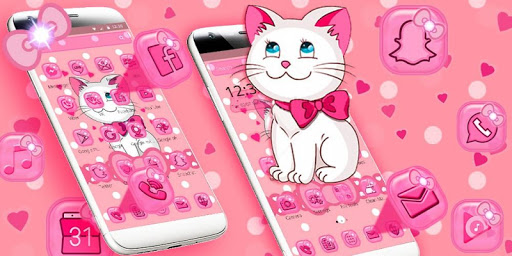 Pink Kitty Cute Theme for PC