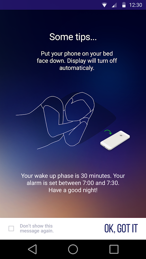 Sleep Time Smart Alarm Clock- screenshot