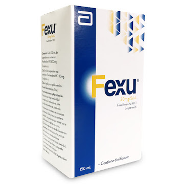 Fexu Abbott Fexofenadina   HCI 30Mg/5Ml Suspensión Frasco x 150Ml