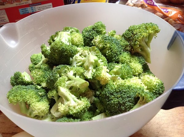 Wash broccoli in a colander & cut larger pieces into smaller pieces, rinse under...