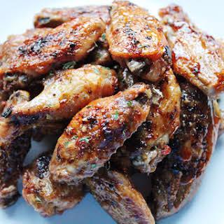 honey garlic Parmesan wings.
