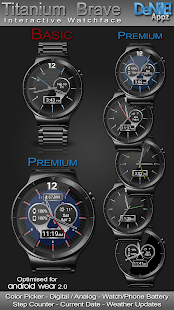 Titanium Brave HD Watch Face - náhled