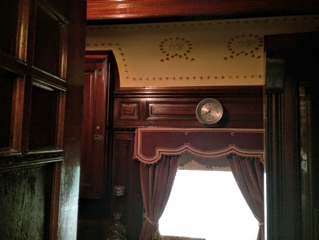 Inside the 1890 Grand Isle Rail Car...it was so ornate, I only got this pic.