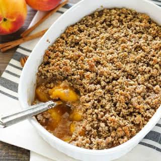 Healthier Peach Crisp.