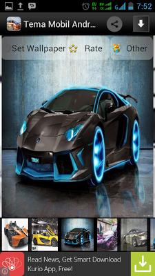 Tema Mobil Android - screenshot