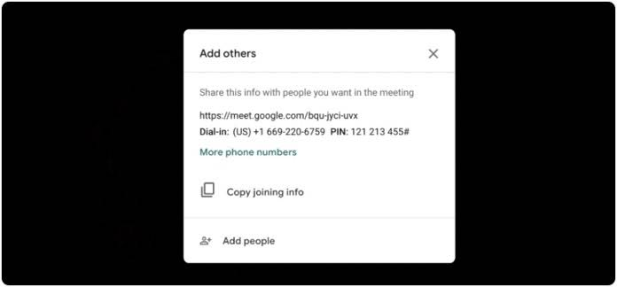 Invite Online meeting