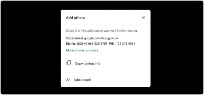 Online toplantı daveti