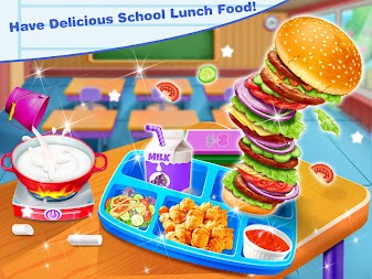 School Lunch Food Maker – Cooking Food Games APK screenshot thumbnail 1