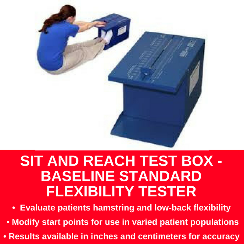 Sit And sit and reach test box baseline standard flexibility tester en