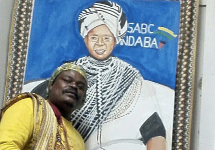 Fans are unsure of who Rasta was painting in his latest painting.