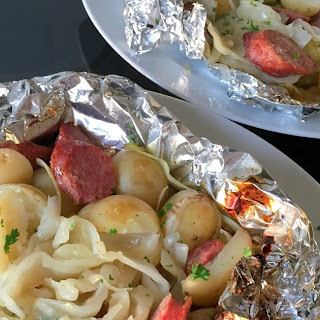 Cabbage and Sausage Foil Pack Dinner.