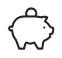 line drawing of the piggy bank