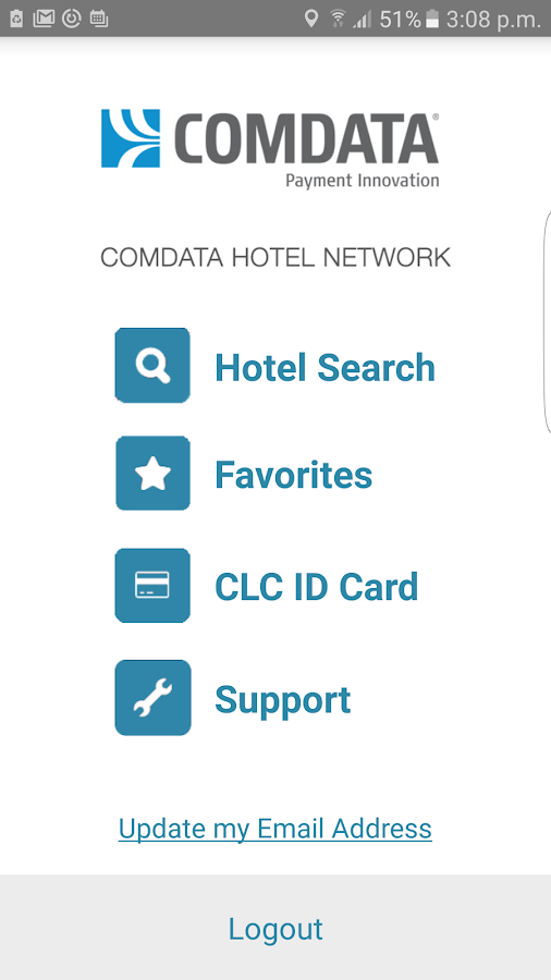 Comdata Hotel Network- screenshot