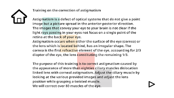 Eyesight training
