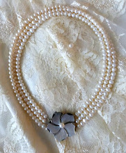 Photo: # 216 Mother of pearl & pearl pendant/clasp, freshwater pearls $150 SOLD