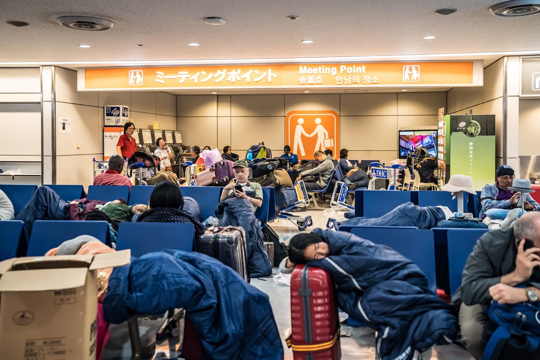 Narita Airport typhoon4