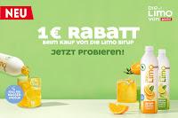 Angebot für Spare 1€ auf Die Limo Sirup Orange und Zitrone-Limette. im Supermarkt