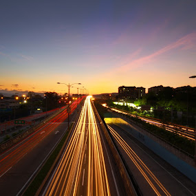 Unstoppable by William Cheng - City,  Street & Park  Skylines ( city street malaysia sunrise light )