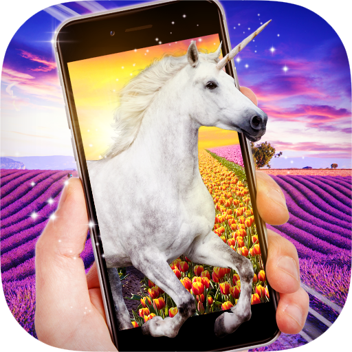 Unicorn In Phone Prank Icon